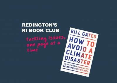 Redington's RI Book Club reviews How to Avoid a Climate Disaster by Bill Gates